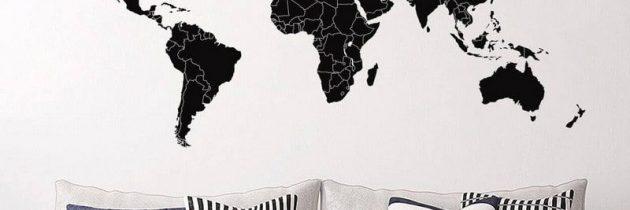 Smart verdenskort wallstickers